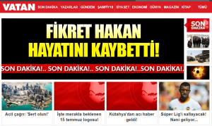 Gazete Vatan Haberler - Son Dakika Haberler